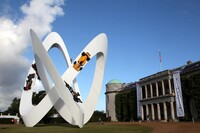 Lotus Sculpture in front of Goodwood House